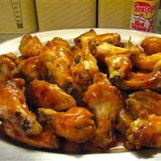 Restaurant-Style Buffalo Chicken Wings Recipe - Allrecipes.com Buffalo Chicken Recipes, Chicken Wing Recipes, Yummy Appetizers, Appetizer Recipes, Cooking Recipes, Meal Recipes, Turkey Recipes, Cooking Ideas, Food Ideas