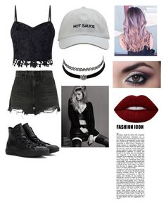 """""""HOT SAUCE"""" by chloe-ashforth on Polyvore featuring Lipsy, Alexander Wang, Converse, Charlotte Russe and Lime Crime"""