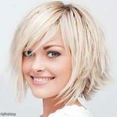 layered short hairstyles with side swept bangs - Google Search