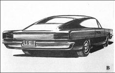 OG   1963 Rambler Tarpon   Early design sketch led by Dick Teague. This concept is the forerunner of the 1965 Rambler Marlin