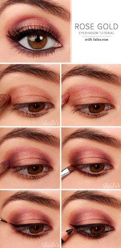LuLu*s How-To: Rose Gold Eyeshadow Tutorial at LuLus.com!