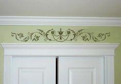 Marie-Antoinette Lower Panel Stencil - Elegant Stencil for Walls or Headpiece…