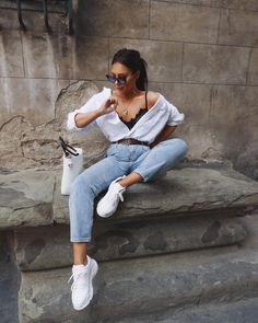 Outfits fresas armados con ropa barata Strawberry outfits armed with cheap clothes Vintage Outfits, Mode Ootd, Outfit Trends, Outfit Styles, Cute Casual Outfits, Classy Chic Outfits, Date Outfit Casual, Classy Summer Outfits, Casual Chic Summer