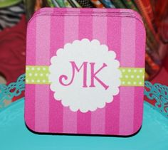 Powder Puff Ribbon Coaster Set