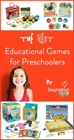 love this list -- the BEST educational games for preschoolers from Imagination Soup