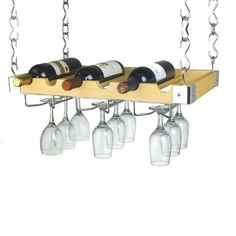 Ceiling or Wall Mount Wooden Wine (Red) Rack Hanging Wine Glass Rack, Wine Glass Shelf, Wine Glass Holder, Glass Shelves, Wine Shelves, Wine Rack Uses, Wood Wine Racks, Wine Rack Wall, Wood Rack