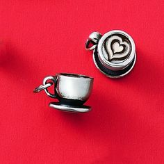 Have your latte and wear it, too! This sterling silver charm makes a thoughtful gift for the coffee-drinking friend who's fully caffeinated and ready to make the most of every day. Silver Charms, Sterling Silver Necklaces, Silver Rings, James Avery, Love Charms, Latte, Vintage Jewelry, Charmed, Dream Closets