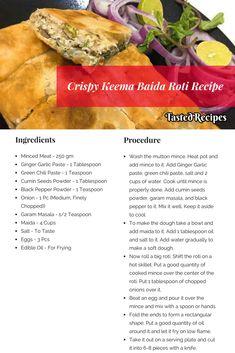How To Make Baida Roti - Rangooni Kheema Paratha Veggie Recipes, Indian Food Recipes, Gourmet Recipes, Asian Recipes, Cooking Recipes, Healthy Recipes, Chicken Recipes, Keema Recipes, Paratha Recipes