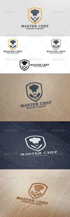 Master Chef - Logo Template: Food Logo Design Template by martinjamez. Bakery Branding, Logo Branding, Branding Design, Logo Chef, Logo Inspiration, Beste Logos, Donut Logo, Sweet Logo, Logo Desing