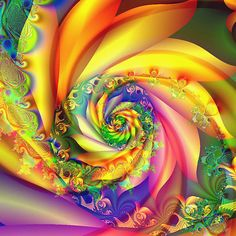 Spiral of Summer Beauty by Brian Exton (his work is for sale!)