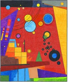 """My Kandinsky inspired art mural is based on his painting """"Heavy Red"""". Color and tape together to make your own copy of Kandinsky's masterpiece. Art Prints, Red Art, Red Art Print, Red Abstract Art, Painting, Wassily Kandinsky, Kandinsky Art, Reds Poster, Abstract"""