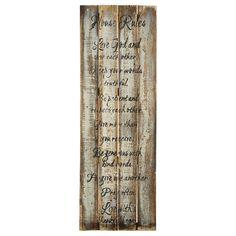 Wood Wall Art - House Rules