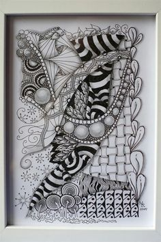 Discovered my love for Zentangle only 4 weeks ago. This one was the birthday present I did for my dad last week.