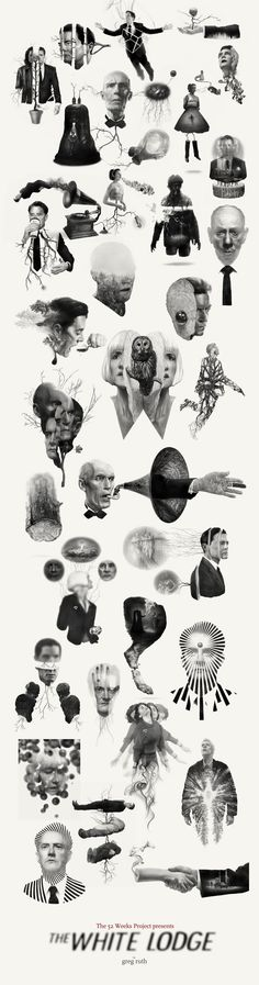 The fantastic art of Greg Ruth. Lynch Movies, Twin Peaks Tattoo, David Lynch Twin Peaks, Illustrations And Posters, Trippy, Psychedelic, Horror, Illustration Art, Images