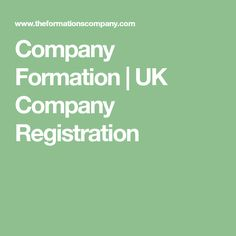 Company Formation | UK Company Registration