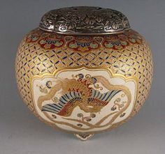 Antique Arts of Japan. Flying Cranes Antiques Ltd. Featuring signed and anonymous Edo and Meiji period masterpieces of Japanese art and antiques. Japanese Porcelain, Japanese Pottery, Japanese Incense, Japan Crafts, Ceramic Pottery, Ceramic Jugs, Incense Burner, Japan Art, Japanese Culture