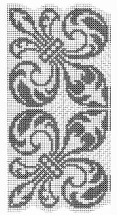 @nika Blackwork Embroidery, Cross Stitch Embroidery, Embroidery Patterns, Knitting Patterns, Modern Cross Stitch Patterns, Cross Stitch Charts, Pixel Art Fleur, Palestinian Embroidery, Tapestry Crochet