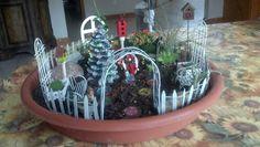 Fairy Garden ready for Christmas