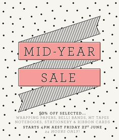 It's mid-year sale time! Starting at (Australian Eastern Standard Time) this… Web Design, Layout Design, Layout Online, Email Template Design, Christmas Typography, Ribbon Cards, Email Design Inspiration, Promotional Design, Newsletter Design