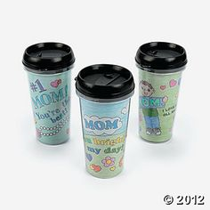 Color Your Own Mom Artist Travel Mugs