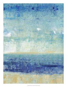 Framed Beach Horizon I Print