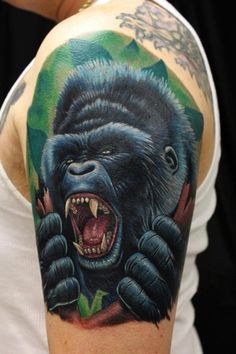 sick gorilla tattoos - Google Search