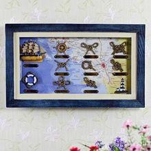 Doprava zdarma Nový stredomorskom štýle drevené dekoračné rám Stereo Frame (Čína (pevninská časť))