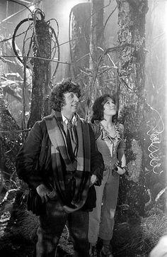Tom Baker & Elisabeth Sladen in Planet of Evil.