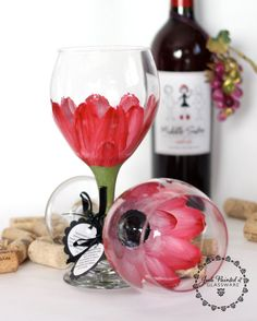 Hand painted wine glasses painted wine glasses and wine glass