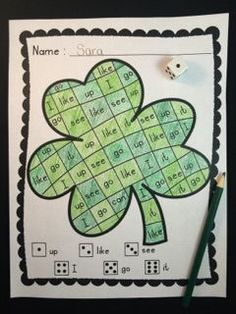 Roll, Read, & Color Sight Words {Shamrock Fun}  Do your students need more practice with sight words?  Do you want to help them practice in a fun way?  These printables are perfect for you!