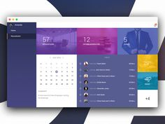 What you see here is a dashboard for a recruiter. It gives a pretty extensive view of the calendar of the recruiter, highlighting the meetings, interviews and joinings. Navigation lets the recruite...