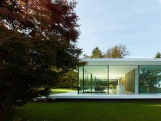 Minimalist Glass House in Germany by Werner Sobek