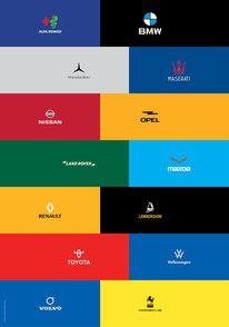 Minimalist car logo re-design on Behance — Designspiration