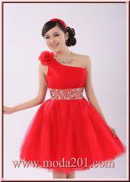 Resultado de imagen para fotos de vestidos de 15 años cortos rojos