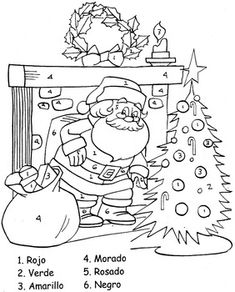 Spanish coloring pages christmas story ~ christmas spanish color by numbers   christmas   Pinterest ...