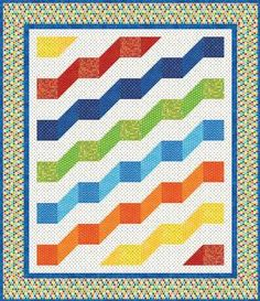 Rainbow River Quilt Pattern Download by It's Sew Emma, available now at connectingthreads.com for just $9.00 »