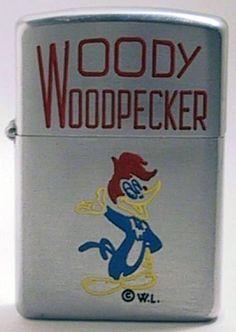 Woody Woodpecker on a Zippo Zippo Usa, Military First, Cool Lighters, Woody Woodpecker, Woodpeckers, Light My Fire, Zippo Lighter, Cigarette Case, Book Worms