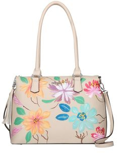Vera May Corry natural hand painted handbag at Heel to Toe!