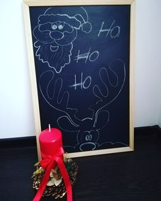 Christmas drawn on a blackboard