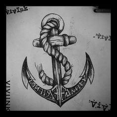 eeb54f428 Family Anchor Tattoos on Pinterest | Anchor Tattoos Navy Anchor ... Family Anchor  Tattoos