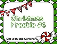 12 days of Christmas giveaway #6 This freebie is a count the room ten frame style with numbers 1-20Happy December!