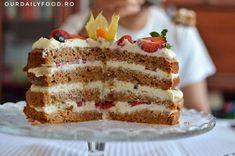 Romanian Desserts, Savoury Cake, Vanilla Cake, Sweet Treats, Cakes, Sport, Food, Sweets, Deporte