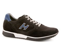 Sneaker Hogan H198 black Suede leather with nubuck panels - Italian Boutique €209