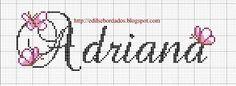 nome adriana em ponto cruz - Pesquisa Google