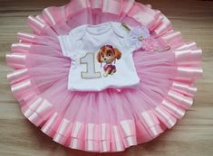 Paw Patrol Skye Birthday Girl tutu outfit, Skye birthday party tutu set, Personalized Birthday Skye Paw Patrol Shirt Tutu and Headband. Paw Patrol Birthday Girl, Baby Girl 1st Birthday, 1st Birthday Outfits, Minnie Birthday, Birthday Tutu, Birthday Parties, Jojo Siwa Birthday, Different Shades Of Pink, Tutu Outfits