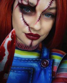 Chucky Halloween, Unique Couple Halloween Costumes, Halloween Eye Makeup, Halloween Eyes, Halloween Season, Halloween Horror, Halloween Sale, Costume Wigs, Costume Makeup