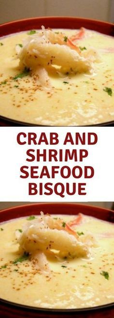 Crab and Shrimp Seafood Bisque is yummy and would be favourite dish. This Crab and Shrimp Seafood Bisque is yummy and would be favourite dish.This Crab and Shrimp Seafood Bisque is yummy and would be favourite dish. Seafood Bisque Recipe Easy, Crab And Shrimp Bisque Recipe, Bisque Soup, Crab Recipes, Seafood Soup Recipes, Recipes Dinner, Seafood Meals, Seafood Stew, Pasta Recipes