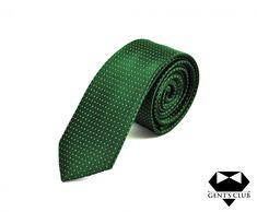 Cravata Business Office Gent's Club Verde Puncte Albe