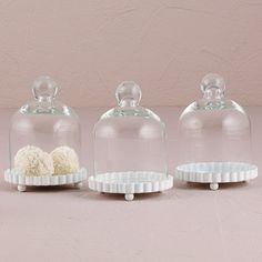 Miniature Forniture - Glass Bell Jar (set of 4) Kitchen stuff / scale 1:2  For miniature food and creations