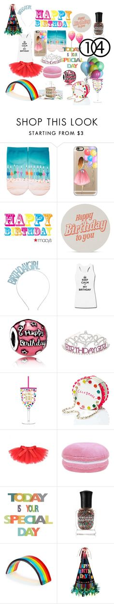 """""""14!!!!"""" by rbienstock ❤ liked on Polyvore featuring Free Press, Casetify, Marby & Elm, Crown and Glory, Pandora, Slant Collections, Betsey Johnson and Deborah Lippmann"""